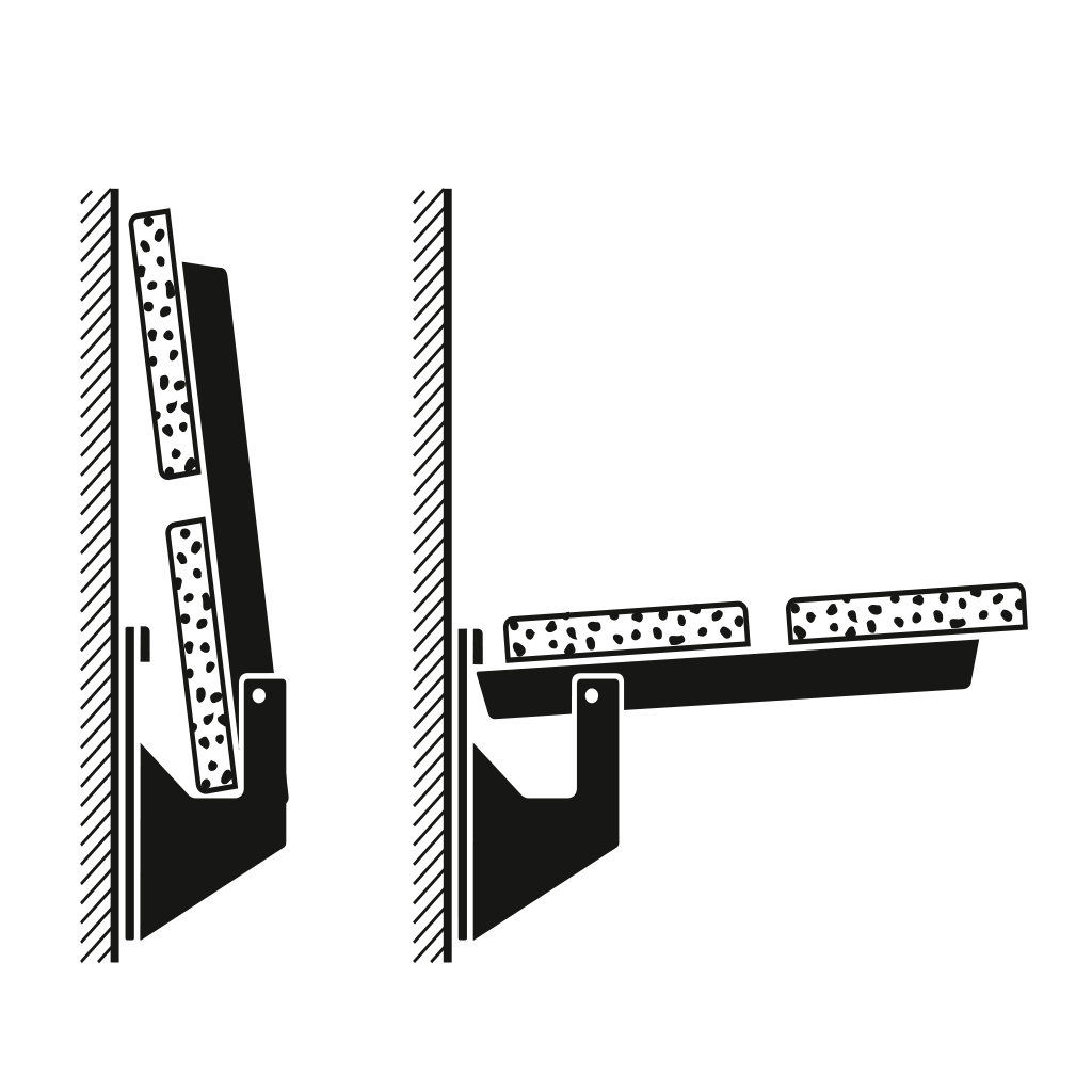 Console relevables pour bancs